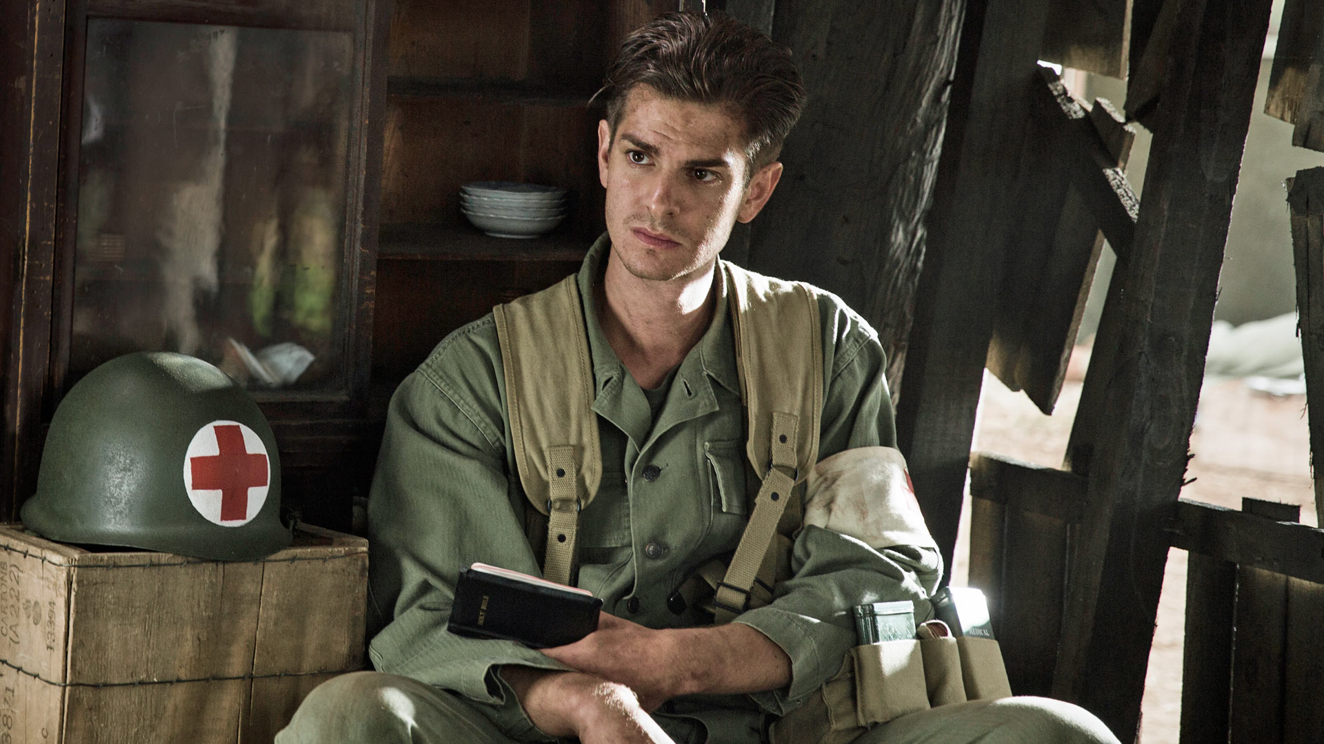 Garfield makes compassion heroic in Hacksaw Ridge.