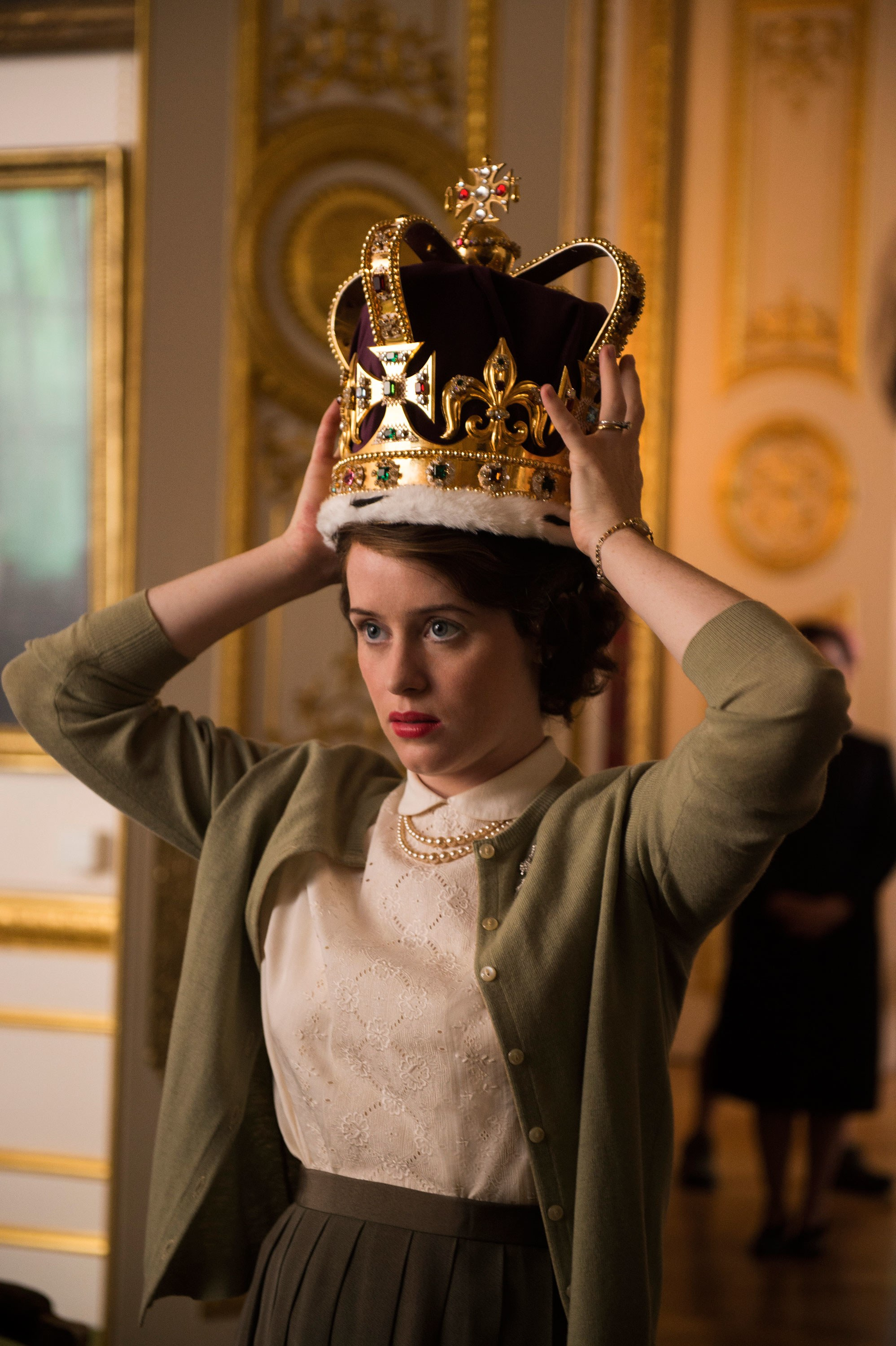 Foy as Queen Elizabeth II in The Crown.