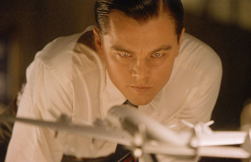 Leonardo DiCarprio prepares for flight in [em]The Aviator[/em]