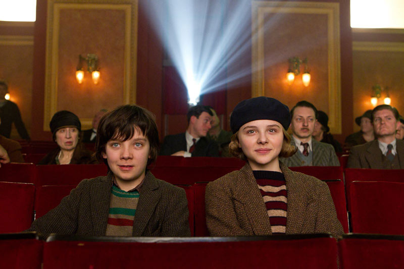 Asa Butterfield and Chloë Grace Moretz in [em]Hugo[/em]