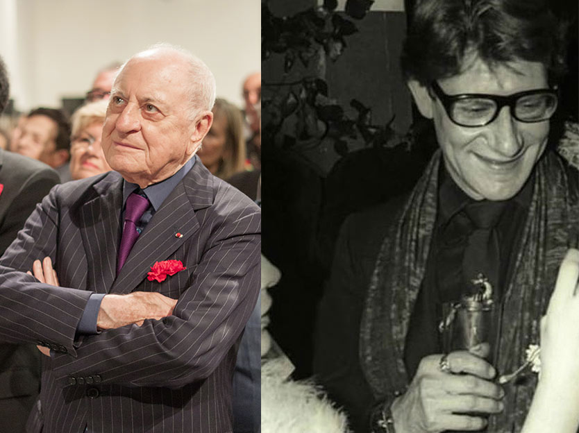 Pierre Berger in 2012 and Yves Saint Laurent in 1978