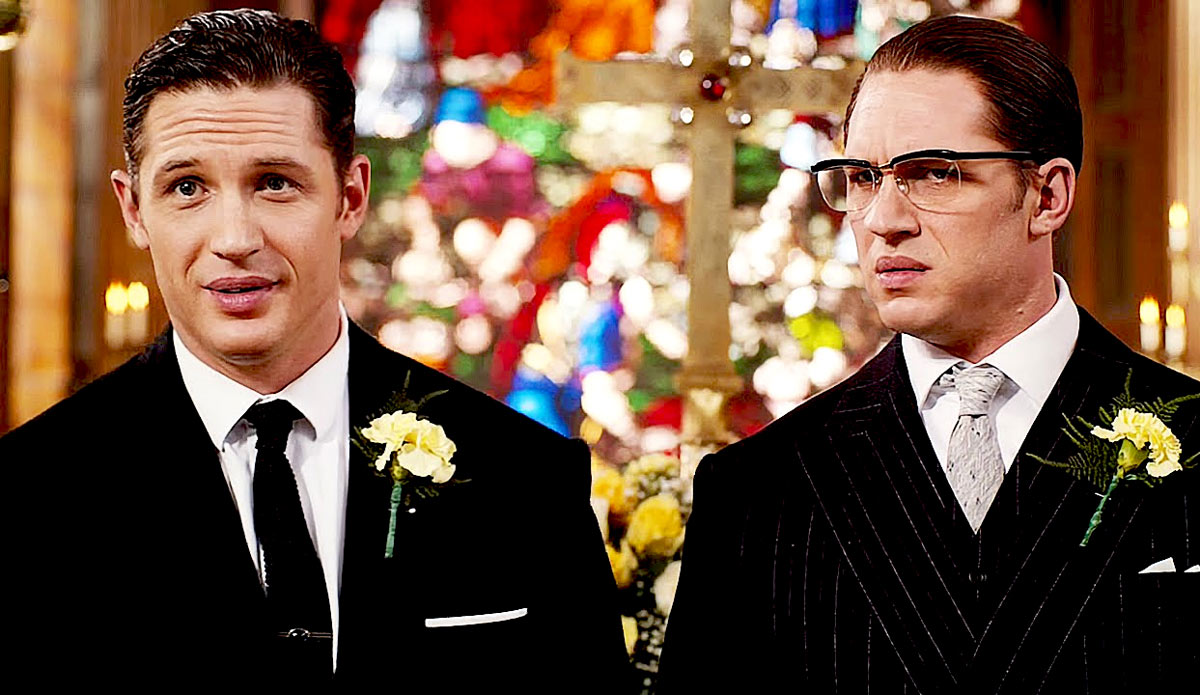 Tom Hardy plays opposite twins as the Kray brothers in [em]Legend[/em]
