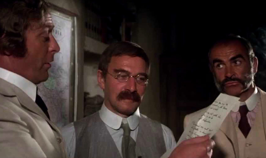 Michael Caine, Plummer and Sean Connery in [em]The Man Who Would Be King[/em]