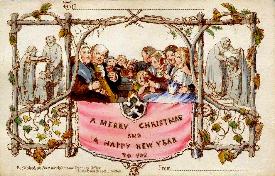 Sir Henry Cole's original Christmas card
