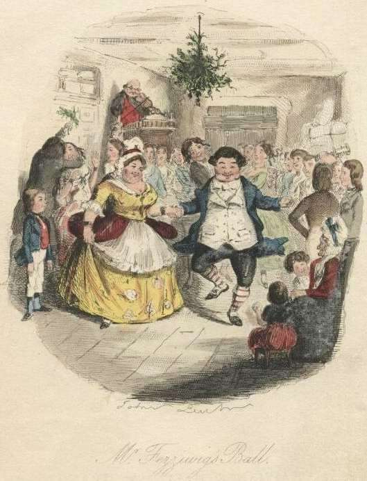 A holiday scene from The Pickwick Papers