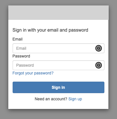 The Hosted UI Sign Up Modal