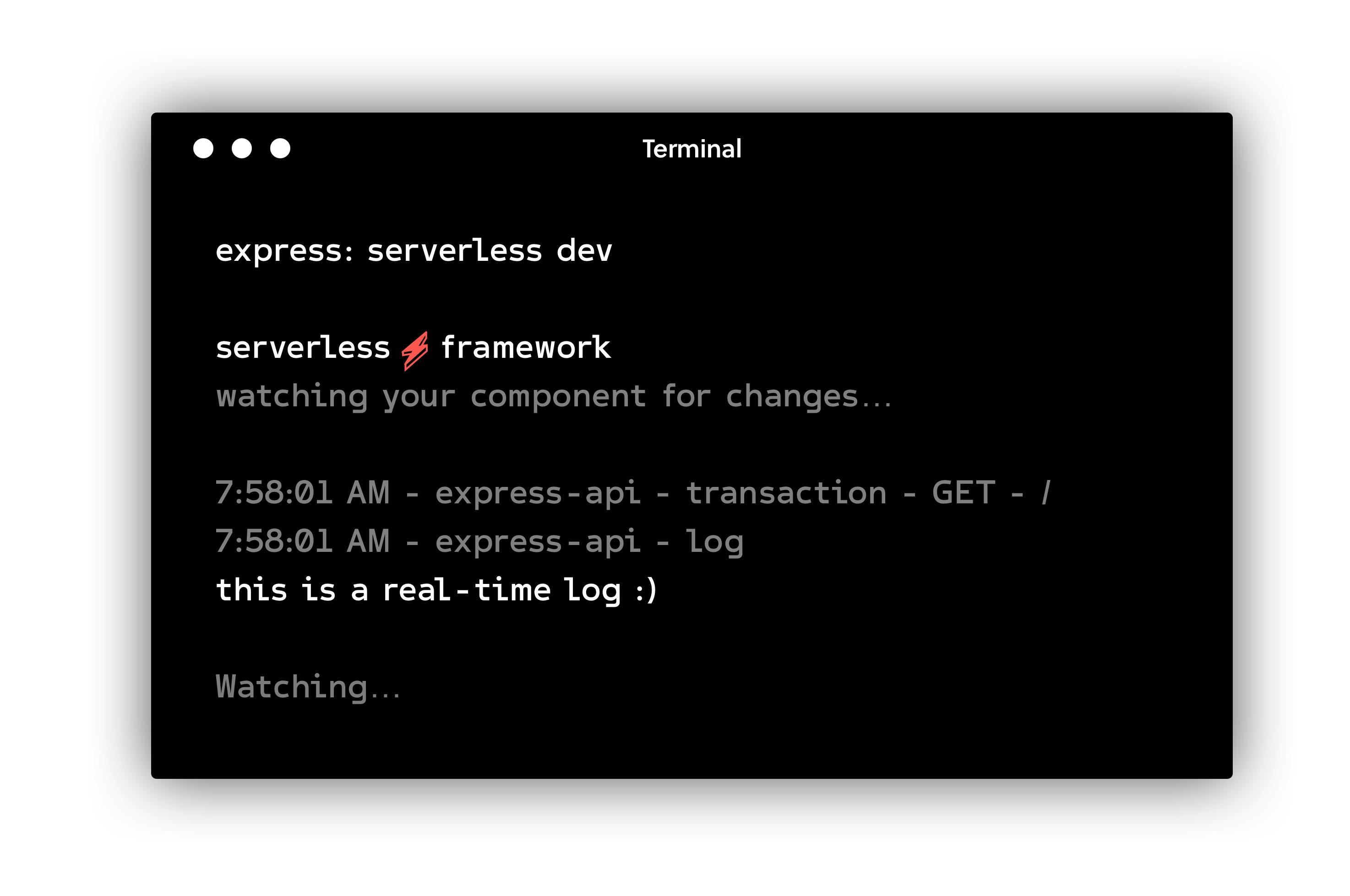 Serverless Dev Mode