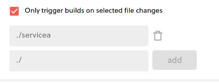Trigger directories configuration