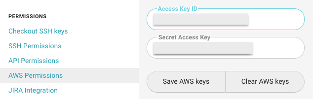 Adding AWS credentials