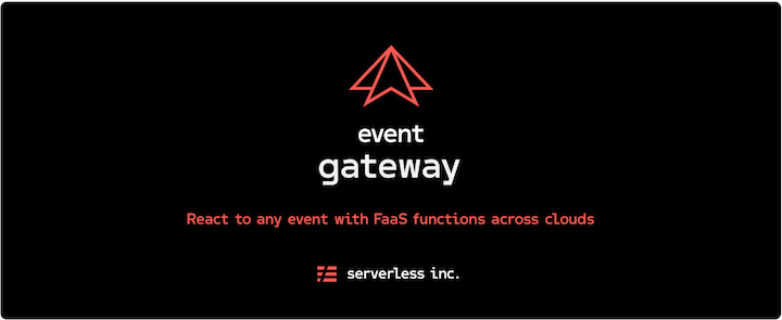 React to any cloud event with hosted Event Gateway