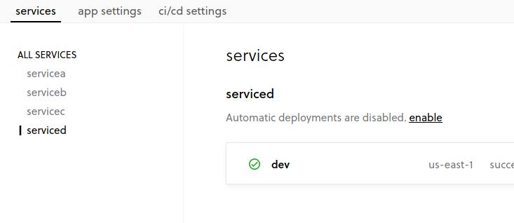 Enable Service D Image