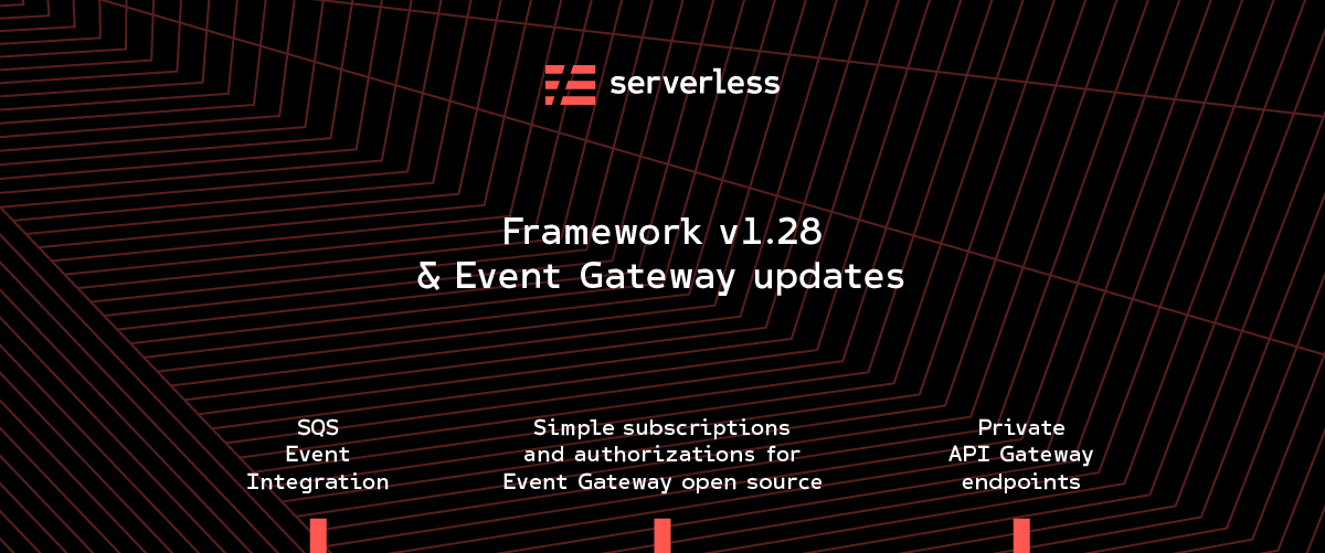 Serverless updates - SQS events, private endpoints, Event Gateway