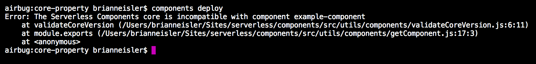core version locking error
