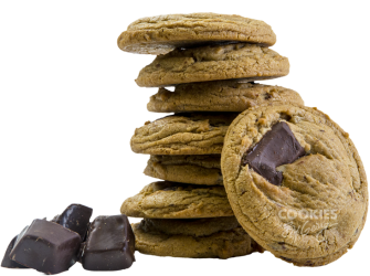 Classic Chocolate Chunk Cookies Stacked