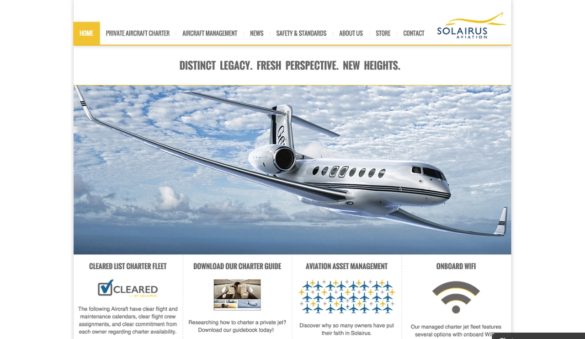 Solarius Aviation needed a new WordPress site for their new corporate website