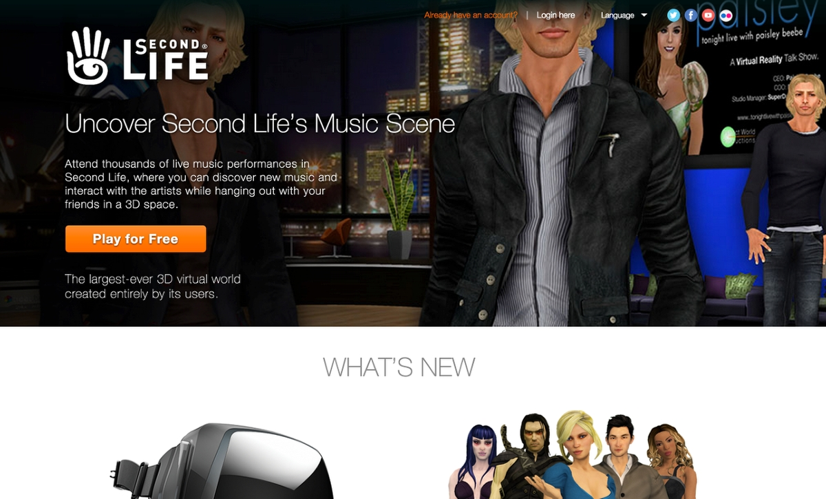 WordPress site build for SecondLife