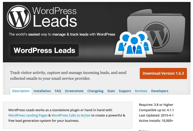 Track visitor activity, capture & manage incoming web leads