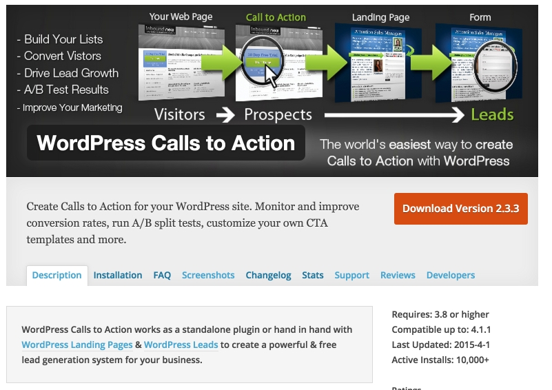 Monitor and improve conversion rates, run A/B split tests, & customize your own CTA templates in WordPress