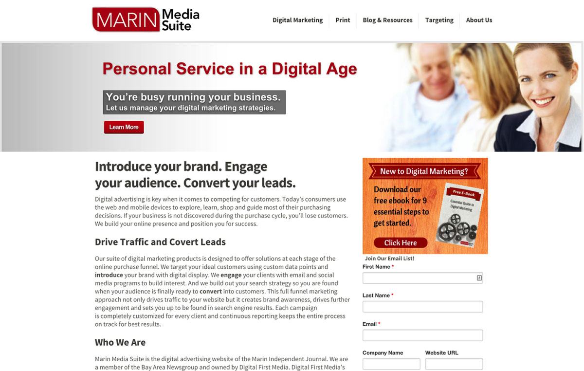 Wordpress site build for Marin Independent Journal