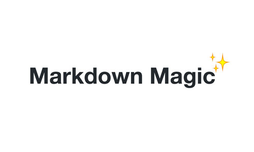 Add a little magic to your markdown