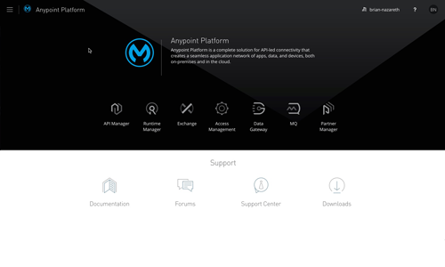 Dashboard for Mulesoft's Anypoint Plafform
