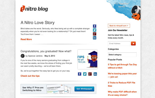 NitroPDF needed a new marketing infused blog for their site