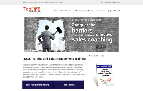 Site build with inbound marketing implementation Landing pages, calls to actions, & lead tracking
