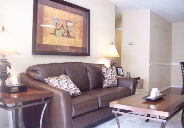 Inside our College Park apartments' living room