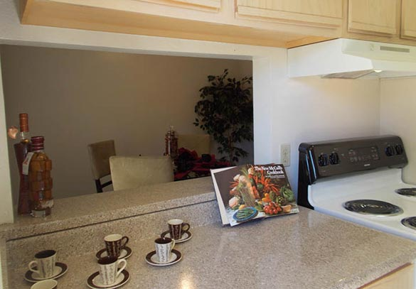 A look inside the kitchen of our Dallas apartments