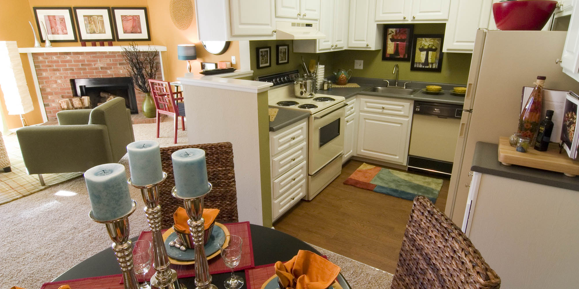 Thornton apartments for rent modern kitchen
