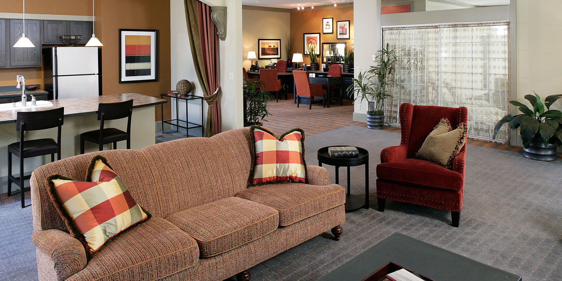 Apartments in University Place has a spacious club house