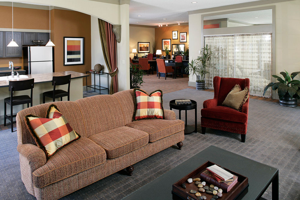 Luxury lounge room in University Place apartments
