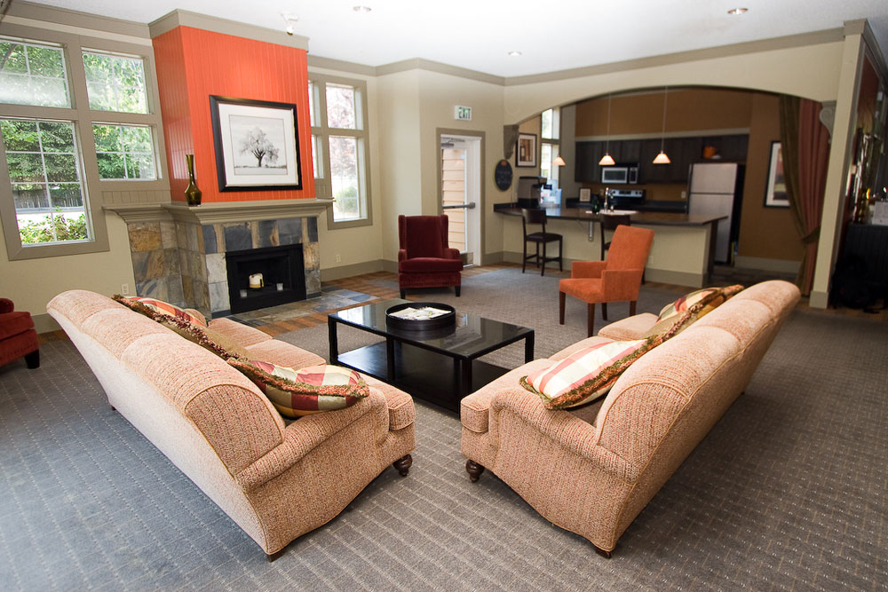 Relax in the lounge area in University Place apartments