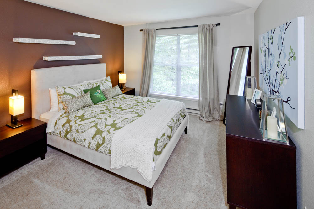 Comfortable bedrooms at apartments in Portland