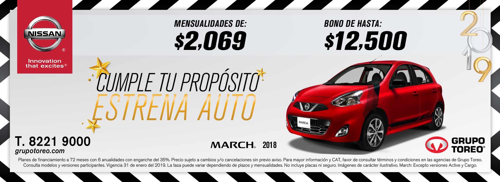 Llevate El Nissan March 2019 Con Mensualidades Desde 2 069