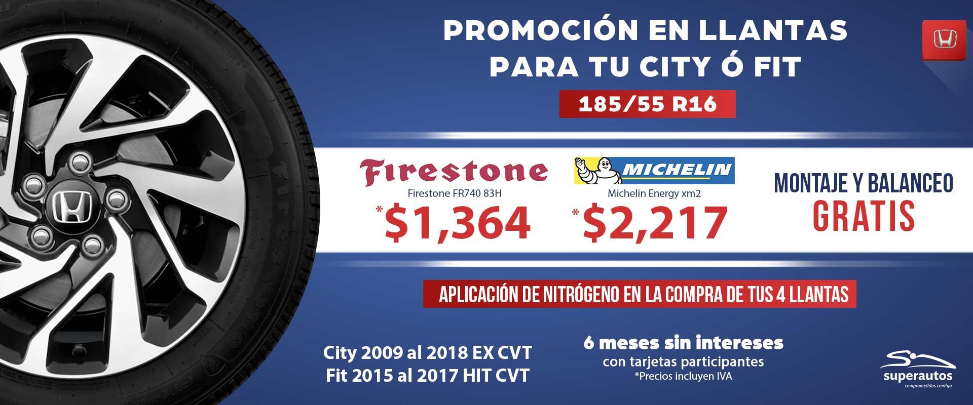 Promocion En Llantas Para Tu Honda City 211 Fit Honda