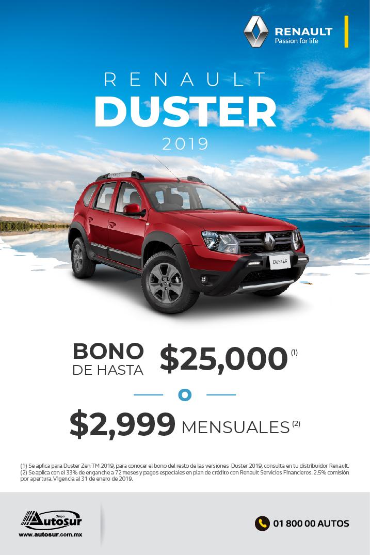 Renault Duster 2019 Con Bono De Hasta  25 000   U00f3  2 999 Mensuales   - Renault M U00e9rida