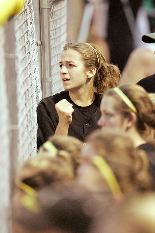 Fremd junior Alyssa Clements reacts to a game-ending throwing error in the bottom the 8th inning in their 1-0 loss to Loyola during their Class 4A semi-final game on Friday night at the East Side fields in East Peoria. Kevin Sherman/ksherman@dailyherald.com/©Daily Herald