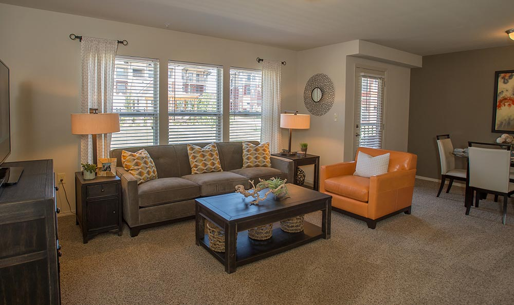 Our Jenks apartments feature modern living rooms