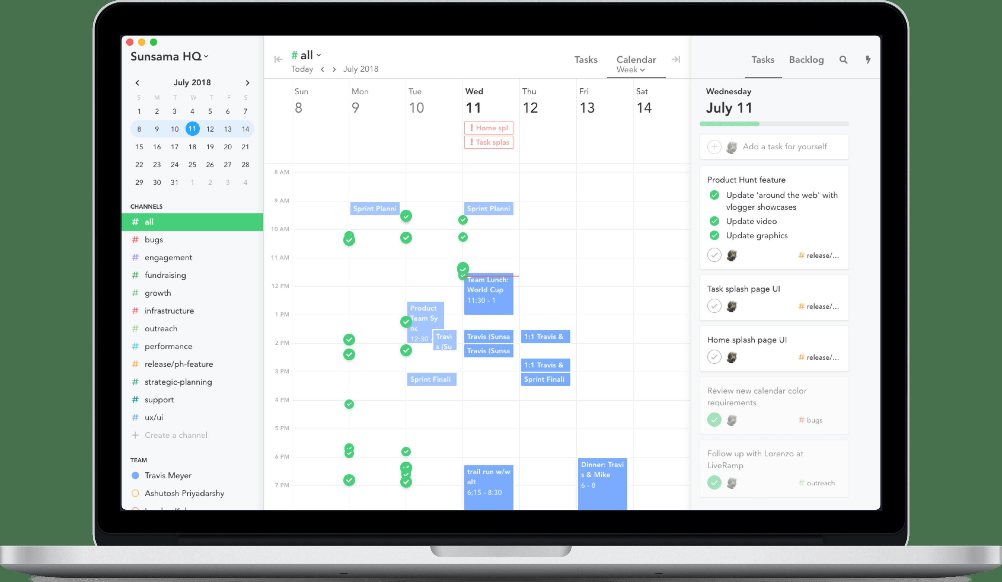Calendars | Sunsama