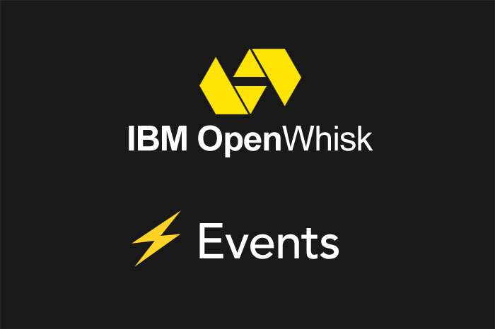 Serverless Framework Apache OpenWhisk Events