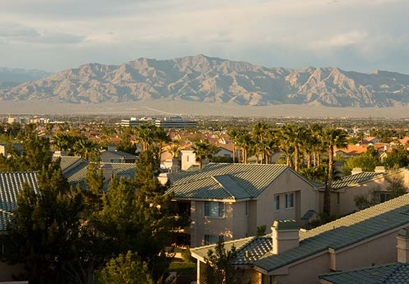 A view of the mountains from our apartments in Las Vegas NV