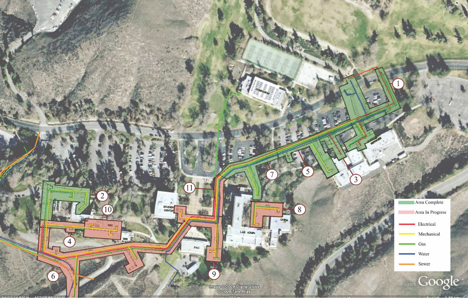 Crafton Hills College Campus Map.Crafton Hills College Infrastructure Tilden Coil