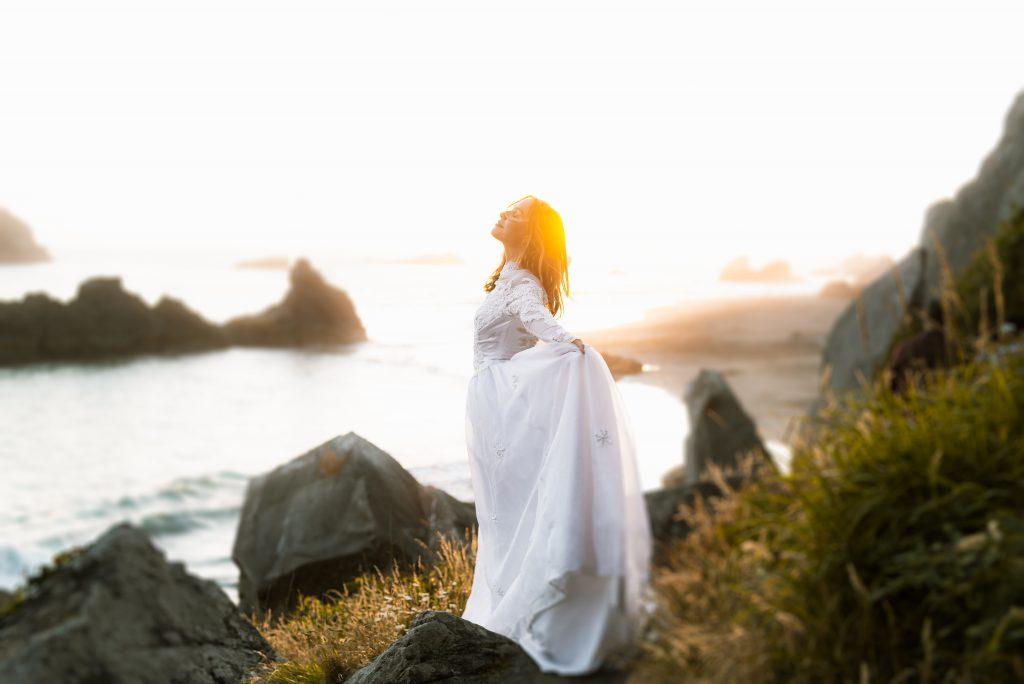 bride-on-beach