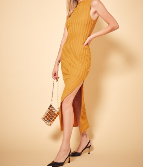 gold-high-neck-dress