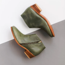 green-leather-boots