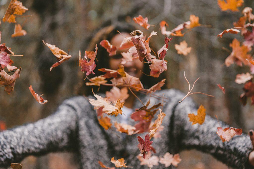 woman-in-leaves