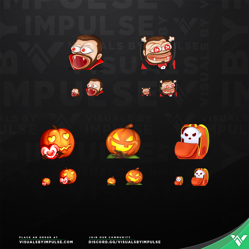 CouRageJD Halloween Twitch Emotes