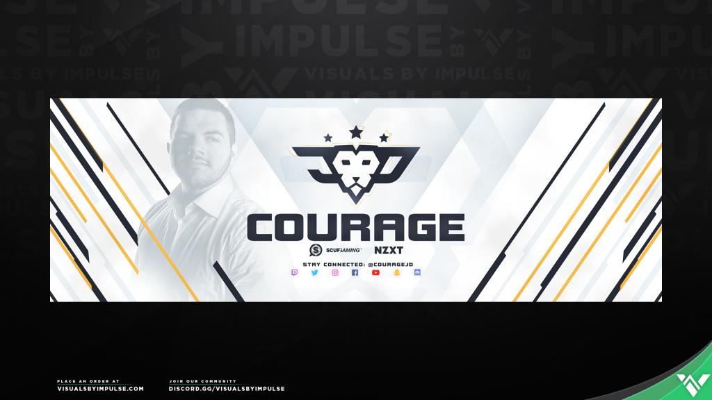 CouRageJD Social Media Banner Art