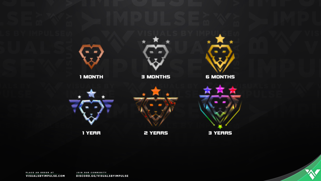CouRageJD Custom Twitch Subscriber Badges